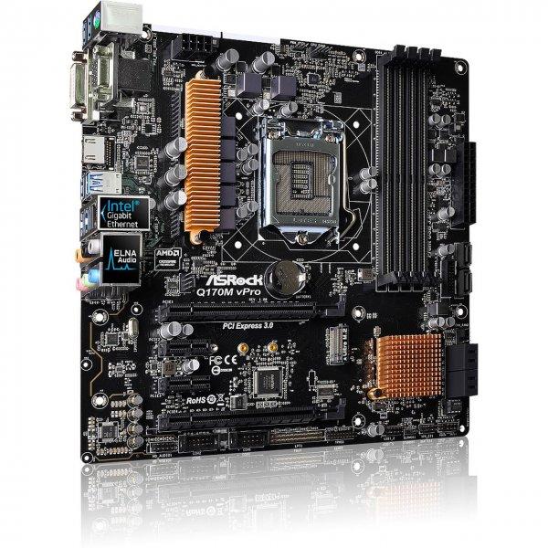[Mindfactory-MindStar] ASRock Q170M vPro Intel Q170 So.1151 Dual Channel DDR4 mATX Retail