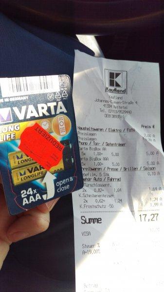 [Lokal - oder auch nicht] Kaufland Lobberich - 24 x AA / AAA  Long Life VARTA Batterien