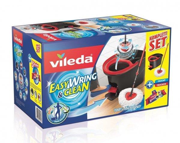 Vileda EasyWring & Clean Wischmop Komplett Set mit 3 Action Besenkopf für 36,50€ @ vente-privee