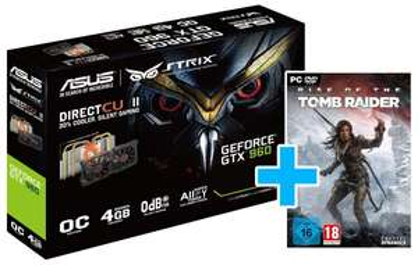 [comtech] ASUS STRIX GTX 960 4GB + Rise of the Tomb Raider (DVD ROM) für 249€ + 2% Qipu