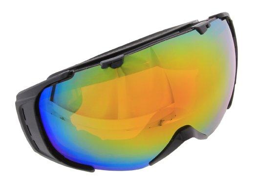 Skibrille Snowboardbrille schwarz Rahmenlos BIGSIZE Amazon für 29,95€