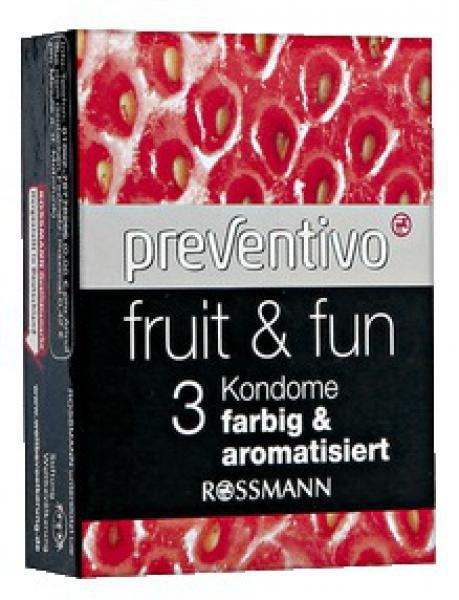 (Rossmann-Lokal) Preventivo Kondome, 3 Stück farbig & aromatisiert für zusammen 0,15