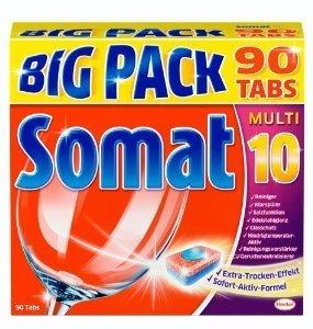 [Amazon] Somat 10 Tabs B-Ware Geschirrspültabs 5x Big Pack à 90 Tabs = 450 Tabs für 22,22€ (0,05€ pro Tab)
