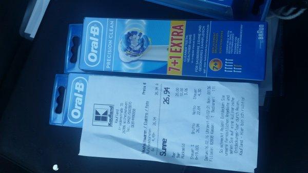 Kaufland WHV,Oral B 7+1, Ersatzbürsten für €4,49