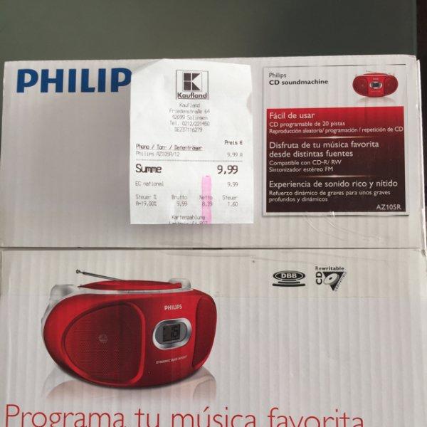 SOLINGEN-OHLIGS/AUFDERHÖHE (*LOKAL*?) PHILIPS CD-RADIO AZ105/R