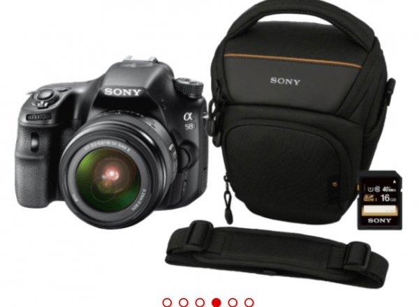 Sony SLT-A58 inkl Tasche und 16GB Speicherkarte.  333€