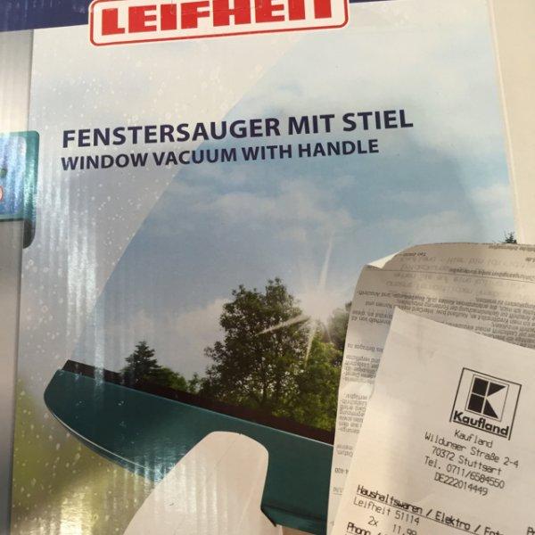 (Kaufland) Leifheit Fenstersauger mit Stiel für 11,99 Euro