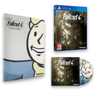 Fallout 4 (PS4) + Franchise Book & Soundtrack für 40€ bei Amazon.co.uk