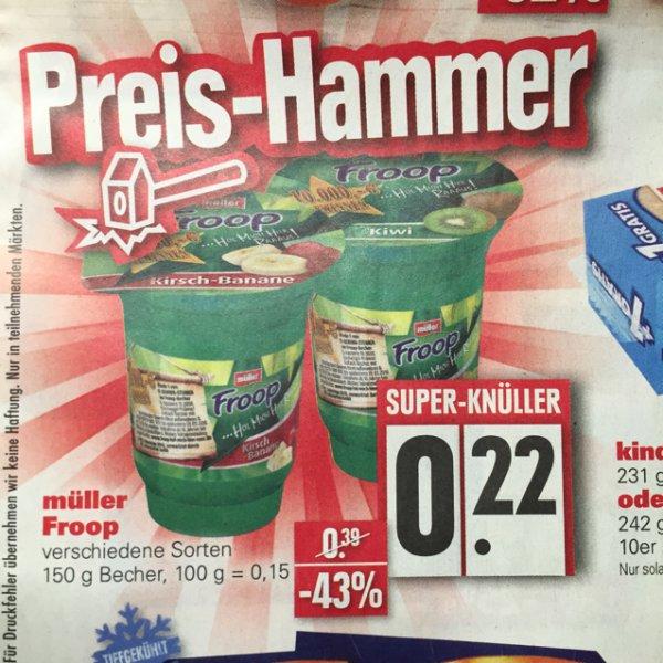[lokal Fürth/Nürnberg?] Froop Becher 0,22€