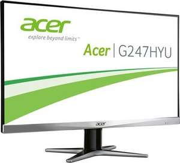 [Redcoon] Acer G247HYU LED Backlight Monitor (23,6'' 2.560x1.440 WQHD IPS matt, DisplayPort + HDMI + DVI, 350 cd/m², 4ms Reaktionszeit, 100.000.000:1, EEK B) für 230€