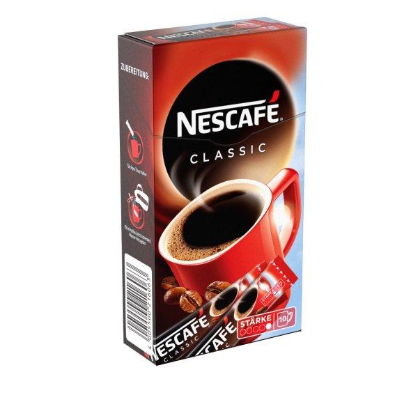 Amazon Prime : Nescafé Classic, Löslicher Kaffee, Faltschachtel mit 10 x 2g Sticks (5er Pack) - Nur 5,49 €
