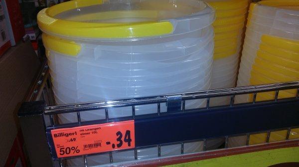 [Lokal Stuttgart Kaufland] 10 Liter Wassereimer für 0,34 €