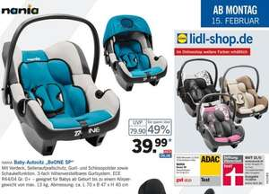 [LIDL] On/Offline BeOne SP Babyschale 39,99