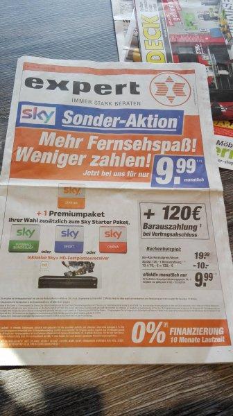 Sky Sonderaktion, Sky Welt + 1 Paket der Wahl, effektiv für 9,99€/Monat