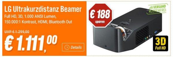 LG UltrakurzdistanzBeamer bei Notebooksbilliger für 1.111,00€