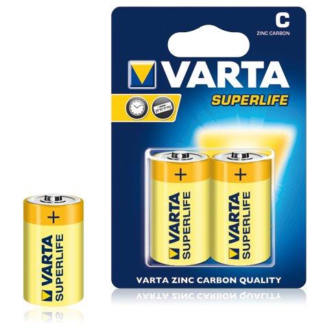 Batterie VARTA ''Superlife'' Zink-Chlorid, Typ C, 1,5V, 2er Blister