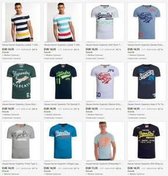 DESKTOP ONLY 400 Modelle Superdry Herren T-Shirts KAUF 3 bezahl 2 AKTION nur Größen XS,S,M aber tolle Auswahl. KEIN MOBILE