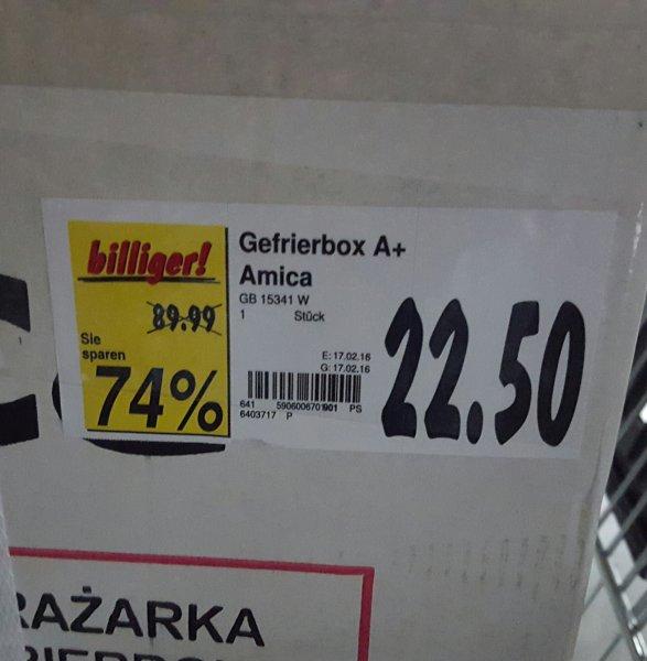 [LOKAL Regensburg Kaufland]  Amica Gefrierbox A+ 74% Rabatt für 22,50€