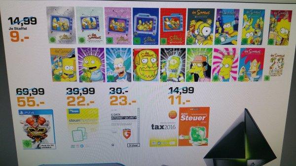 Die Simpsons Staffeln je 9€ in Saturn Dortmund, bei Amazon je 12.97
