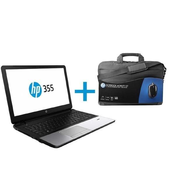 HP 355 G2, A4-6210, 4GB RAM, 500GB HDD (P5T50ES) inkl. Windows 7Pro & Windows 10 Pro, Tasche und Maus 319€ inkl. Versand