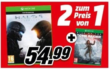 [Mediamarkt.at] Halo 5: Guardians + Rise of the Tomb Raider für 56,79€ inkl. Versand nach DE