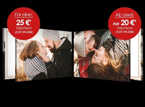 [Meinfoto] Fotoleinwand 100*75 ab 20€/Stck [Meinxxl] Fotoleinwand 80*60 für 19€ jeweils zzgl. 6,90 Versand