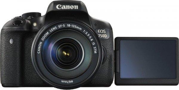 Bestpreis: Canon EOS750D + EF-S18-135 IS STM (-1,6% Qipu), -135€ im Pvg