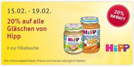 [Rossmann] Hipp Menü Gläschen ab 8./ 10. Monat für 0,59 statt 1,25 durch Kombination