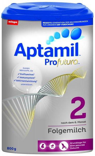 [amazon] Aptamil Profutura 2 Folgemilch nach dem 6. Monat, 4er Pack (4 x 800 g) für 54,90€