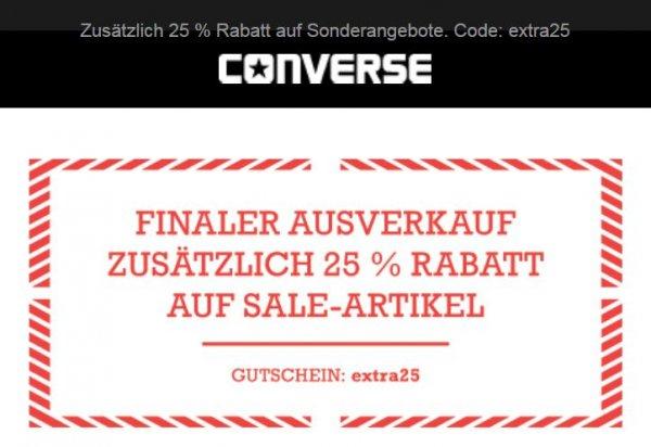 >> WIEDER DA - 50% FINAL SALE bei CONVERSE + 25% ON TOP
