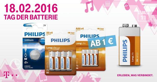 Tag der Batterie, ab 1 Euro