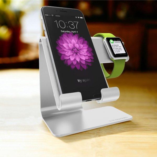 [Amazon.de] 2 in 1 iPhone & Apple Watch Ständer aus Aluminium