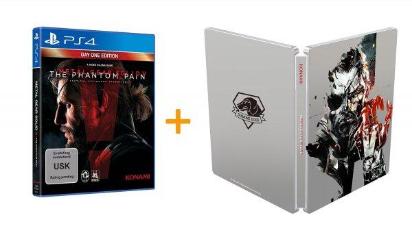 [Amazon.de WHD] Metal Gear Solid V: The Phantom Pain - Steelbook Edition - Playstation 4 - für 32,99€ inkl. Versand / Collectors Edition für ~ 69€ inkl. Versand