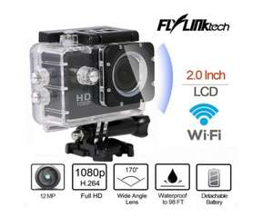 Flylinktech HD Actionkamera Sport DV HD Kamera Wifi Action Camera Actioncam 1080P 40M Wasserdicht@Amazon.de 54,99 €