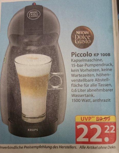Dolce Gusto Piccolo KP 100B für 22,22€ bei Famila Nordost KW 8 22.02.16 - 27.02.16
