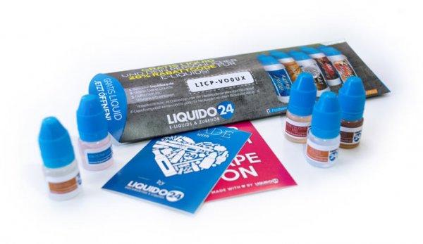 [Liquido24.de] E-Liquid Testpaket für 1€ (5x 2ml)