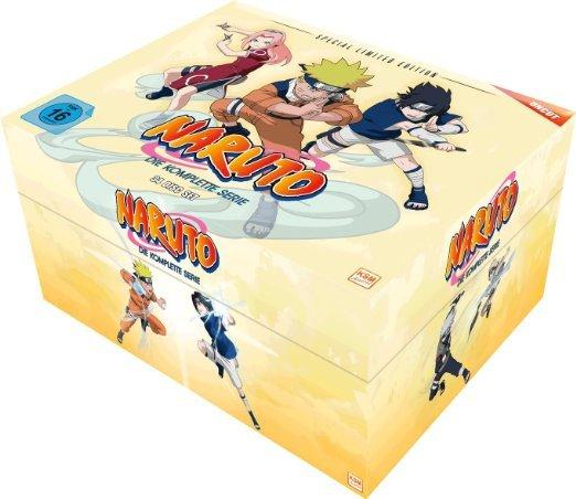 (Ebay.de) Naruto Gesamt-Box (Special Limited Edition mit 8 Postkarten & Poster) (34 Disc Set)