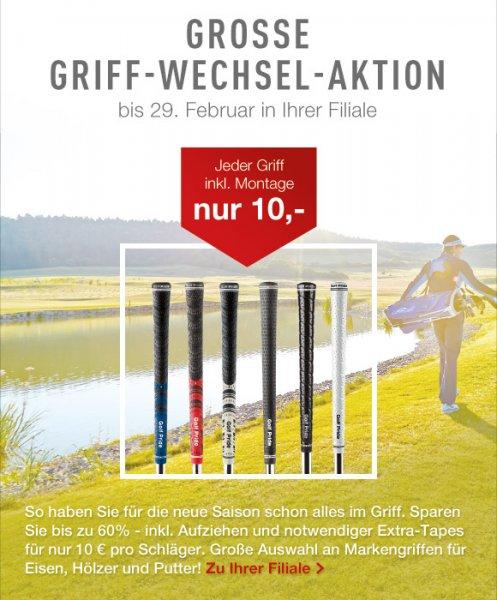 Golfhouse Griffe wechseln bis Ende Februar 10€