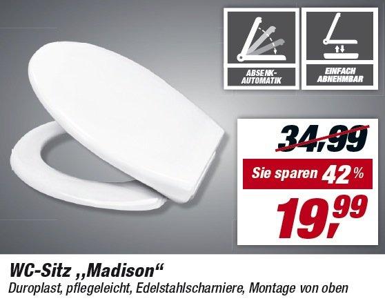 [TOOM] WC-Sitz Madison für 19,99 EUR (für Gästeklo-Freunde e.V.)