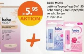 [Müller, KW08] Neuer Prospekt COUPON für GRATIS bebe young care Lippenpflegestift beim Kauf einer bebe more getönte Tagespflege 5in1 (50 ml)
