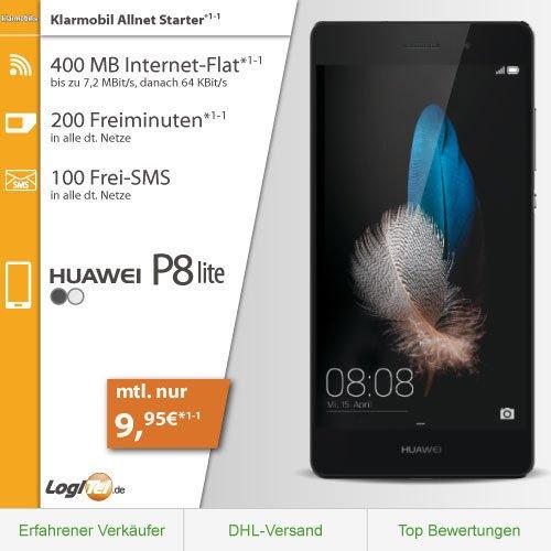 Huawei P8 Lite Handy im Klarmobil Starter Vertrag nur 9,95€mtl.