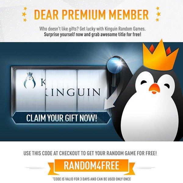 [Kinguin Premium] Random Game for Free (Steam)