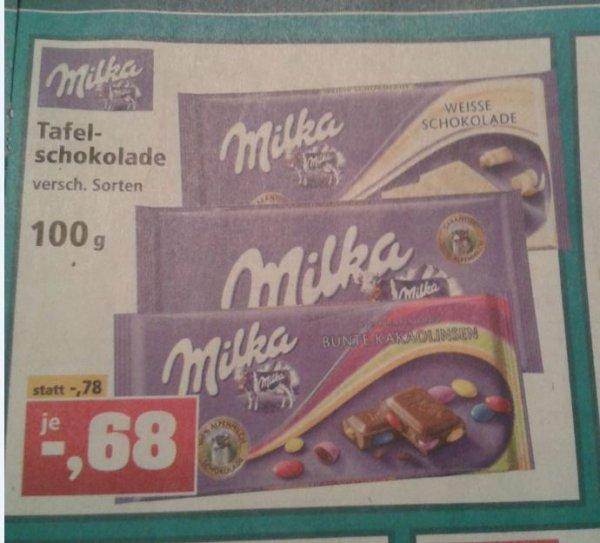 [Thomas Phillips] Milka Schokolade 100 g für 0,68 €