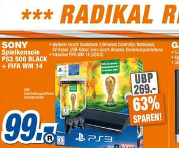 Ps3 Superslim 500 GB + Fifa WM 2014