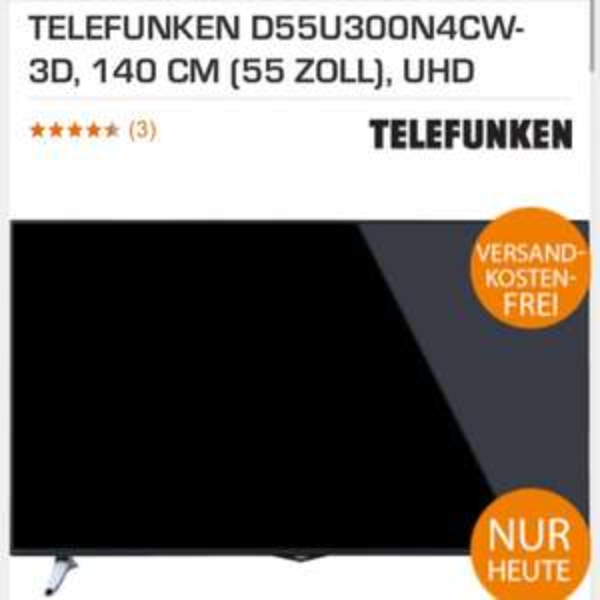 telefunken d55u300n4cw 3D 55 Zoll UHD 4K