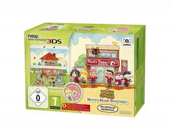 [Amazon.de] New Nintendo 3DS - Konsole, weiß + Animal Crossing Happy Home Designer + Zierblende - für 139€ inkl. Versand