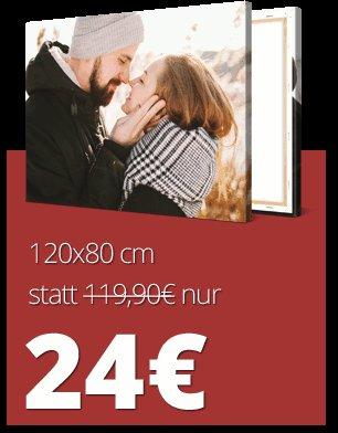 [Meinfoto] wieder da! Fotoleinwand 120*80 für 24€ zzgl. 6,90€ Versand