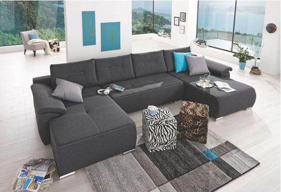 [XXXL Shop] Große Wohnlandschaft in Antrazit für 699€ statt 1199€