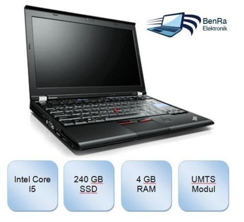 [B-Ware] Lenovo ThinkPad X220 Core i5 2,5GHz 4Gb 240 GB SSD Win7 Pro x64 WebCam UMTS @ebay