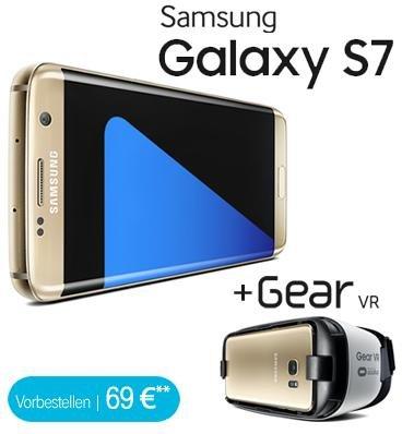 Samsung Galaxy S7 + Gear vr bei talkthisway für 34,99€ + einmalig 69€ (908,76€) neuer Link im Text